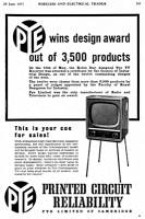 Advert highlighting design award and printed circuit reliability.